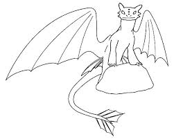 toothless standing on rock in how to train your dragon coloring