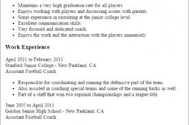 Soccer Coach Resume Sample by Sample Counselor Resume Example Provided By A Professional