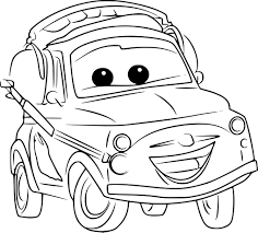 Coloriage Luigi Cars 3 à imprimer