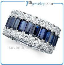 model cincin blue safir fashion men ring model with rhodium plated blue sapphire cz