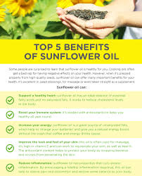 the top 5 benefits of sunflower seed oil activation products