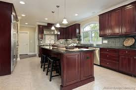 cherry kitchen islands pictures of kitchens traditional wood cherry color