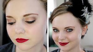 1920s flapper makeup tutorial youtube