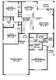 awesome 3 bedroom 2 bath house plans photos home design ideas