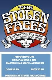 spirit halloween jackson tn the stolen faces u2013 tickets u2013 martins u2013 jackson ms u2013 august 4th
