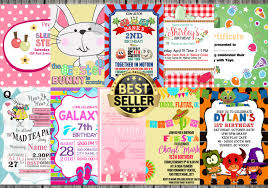 invitation card cartoon design birthday card or any other invitation card