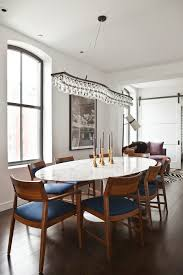 new york tulip table home dining room contemporary with barn door