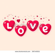 Design For Valentines Card Vector Illustration Lovely Red Hearts On Stock Vector 367083449