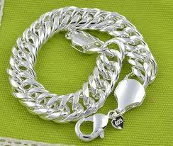 bracelet silver mens images 10mm 925 sterling silver chain bracelet fashion men 39 s jewelry jpg