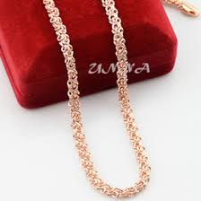 rose gold chain necklace images Discount rose gold womens fashion necklace 2017 rose gold womens jpg