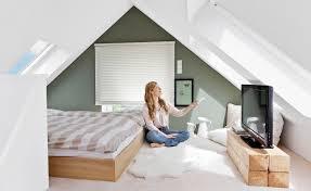 schlafzimmer mit dachschräge gestalten haus design ideen