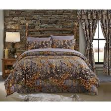 Camo Bed Set King Regal Comfort The Woods Grey Camouflage King 4 Premium