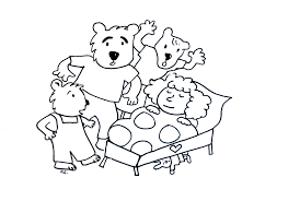 goldilocks and the tree bears fairy tales coloring pages for