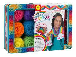 amazon com alex toys craft crochet a rainbow scarf toys u0026 games