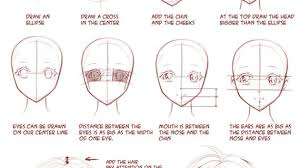 anime face drawings step by step how to draw anime faces