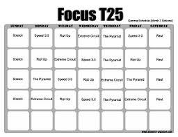 t25 workout calendar print a workout calendar