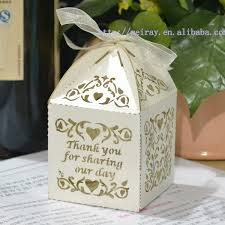 wedding guest gift ideas cheap wedding souvenir box party favor bags laser cut vines sweet