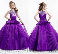 2016 rachel allan purple ball gown princess u0027s pageant dresses