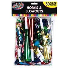 new years noise makers amscan years party multi colored horns and blowouts 50 ct