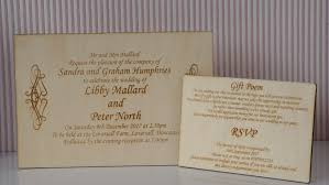 20x wooden engraved rustic wedding invitation with gift poem and