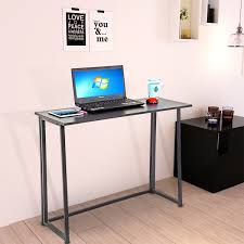 folding computer desk foldable workstation office home collapsible