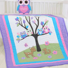 Baby Coverlet Sets Shop Purple And Green Baby Quilt On Wanelo