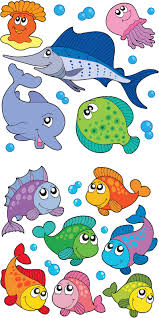 cartoon sea creatures clipart 2047432