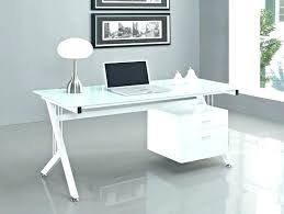 Glass Desk With Drawers All Modern Small Stylish Office Top Name