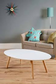 White Oval Coffee Table Oval White Coffee Table With Wooden Legs