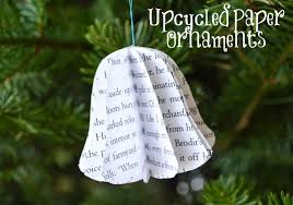 book page ornaments paper tree decorations