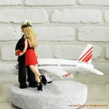 custom airplane pilot wedding cake toppers head to toe