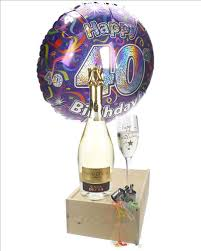 40th birthday delivery 40th birthday prosecco and flute gift next day delivery