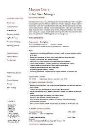 Customer Service Job Duties For Resume by Store Manager Job Description Resume Berathen Com