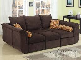 Chenille Sectional Sofas by Furniture Acme 15230 Caisy Chocolate Chenille Fabric Sectional