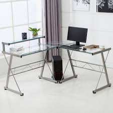 L Shaped Home Office Furniture Desk Pc Desk With Shelves Bookcase Contemporary Office Furniture