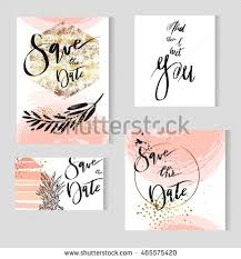 save the date birthday cards set wedding templates goldenpastelblack white stock vector