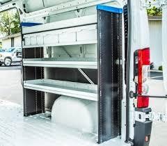 Cargo Van Shelves by Upfitting High Roof And Compact Vans Articles Fleet Management