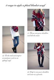 20 style tips on how to wear and tie blanket scarves gurl com
