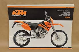 2003 ktm 625 sxc maintenance service operator owners manual
