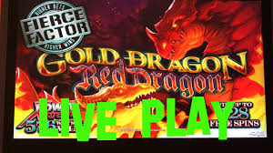 gold dragon red dragon live play max bet 3 75 ags slot machine