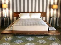 bedroom bedroom furniture build floating platform bed brown