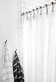 diy leather shower curtain rings the merrythought