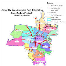 India Political Map Hyderabad Political Map Political Map Of Hyderabad Telangana