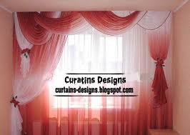 Curtains For Bedroom Windows With Designs by Unique Curtains Unique Red And White Drapery Curtain Model For