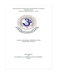 analog u0026 digital communications lab manual