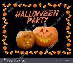illustration of halloween party invitation