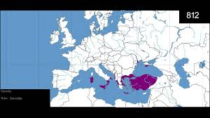 Byzantine Empire Map Rise And Fall Of Byzantine Empire Simulation Youtube
