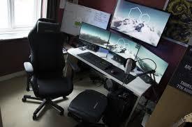 gaming computer desk gaming station computer desk best home furniture ideas inside