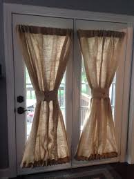 burlap sheers french door drapes burlap curtains french country