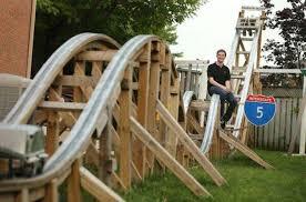 backyard roller coaster backyard ideas